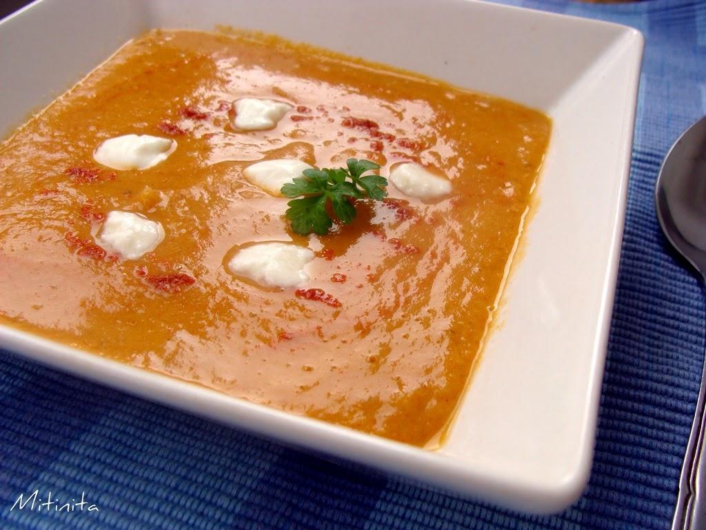 Supa turceasca de linte rosie - Turkish red lentil soup ...