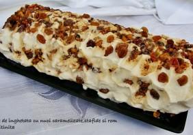 tort de inghetata cu rom