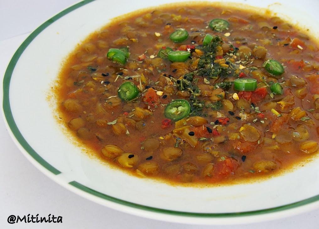 supa indiana de linte verde