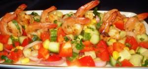 salata de porumb cu creveti