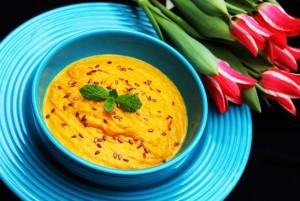 supa crema de morcovi cu lapte de cocos