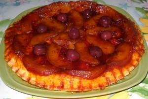 tarta rasturnata cu mere caramelizate