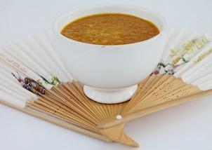 supa crema de morcovi  si miso