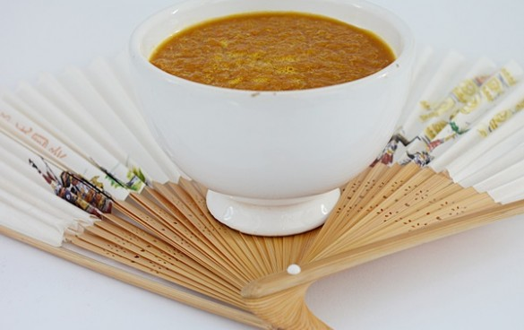 Supa crema de morcovi cu miso