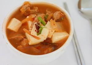 Supa de kimchi cu porc si tofu4