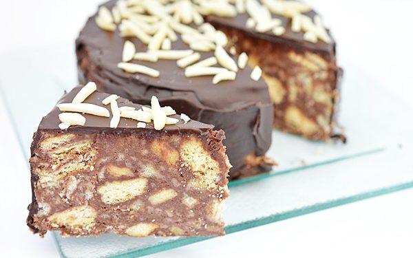 Tort De Biscuiti Cu Glazura De Ciocolata Carte De Rețete