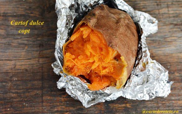 Cartof dulce copt la cuptor
