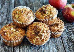 Muffins cu mere